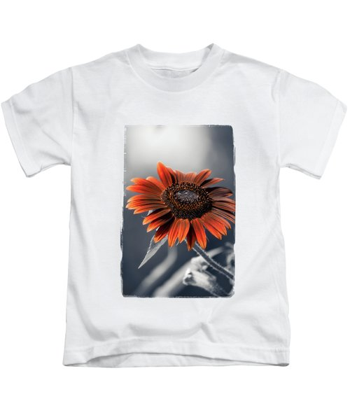 Dark Sunflower Kids T-Shirt by Konstantin Sevostyanov