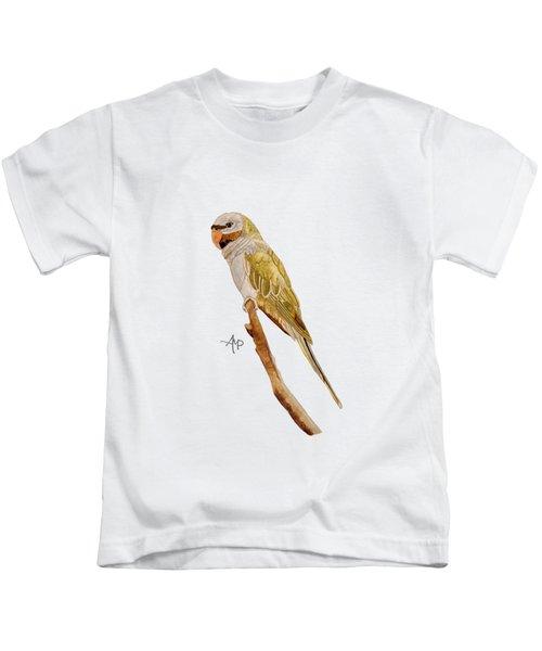 Derbyan Parakeet Kids T-Shirt by Angeles M Pomata