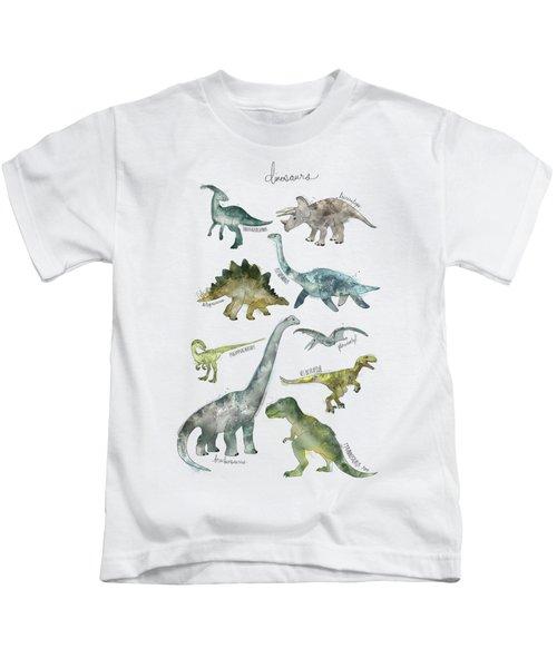 Dinosaurs Kids T-Shirt by Amy Hamilton