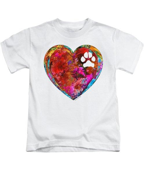 Dog Art - Puppy Love 2 - Sharon Cummings Kids T-Shirt by Sharon Cummings