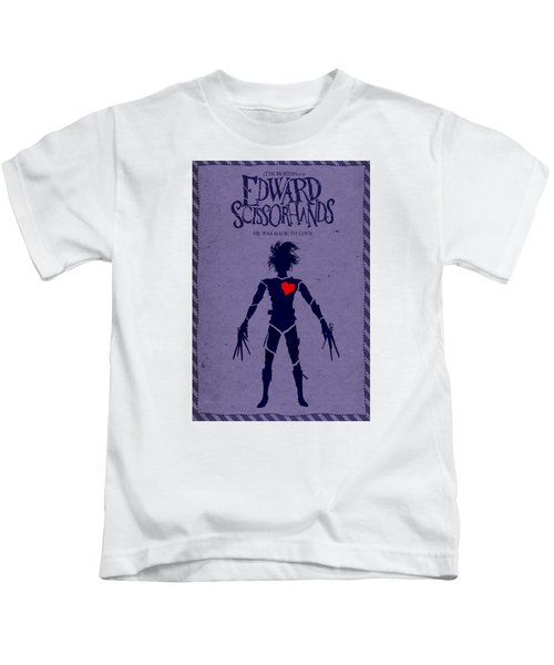Edward Scissorhands Alternative Poster Kids T-Shirt by Christopher Ables