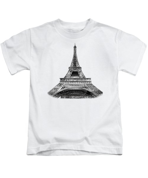 Eiffel Tower Design Kids T-Shirt by Irina Sztukowski