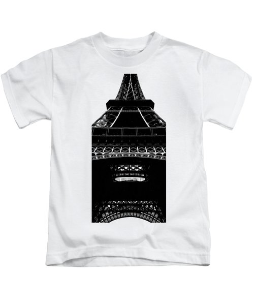 Eiffel Tower Paris Graphic Phone Case Kids T-Shirt by Edward Fielding