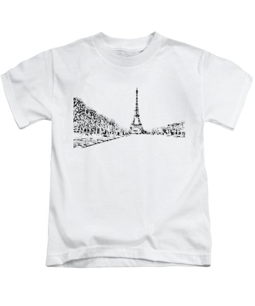 Eiffel Tower Kids T-Shirt by ISAW Company