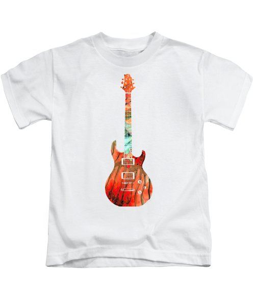 Electric Guitar 2 - Buy Colorful Abstract Musical Instrument Kids T-Shirt by Sharon Cummings