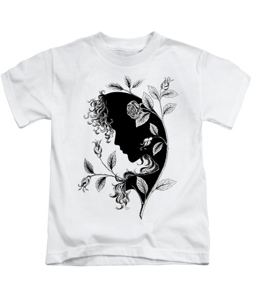 Elf In Roses Kids T-Shirt by Magdalene's Art