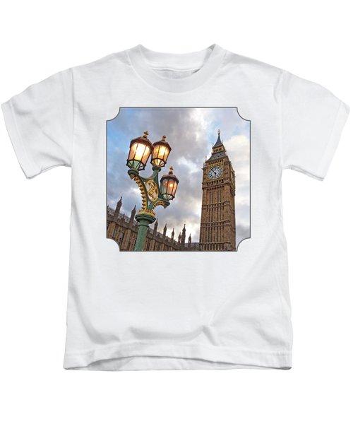 Evening Light At Big Ben Kids T-Shirt by Gill Billington