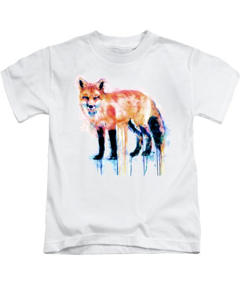 Fox  Kids T-Shirt by Marian Voicu