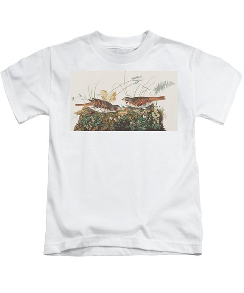 Fox Sparrow Kids T-Shirt by John James Audubon
