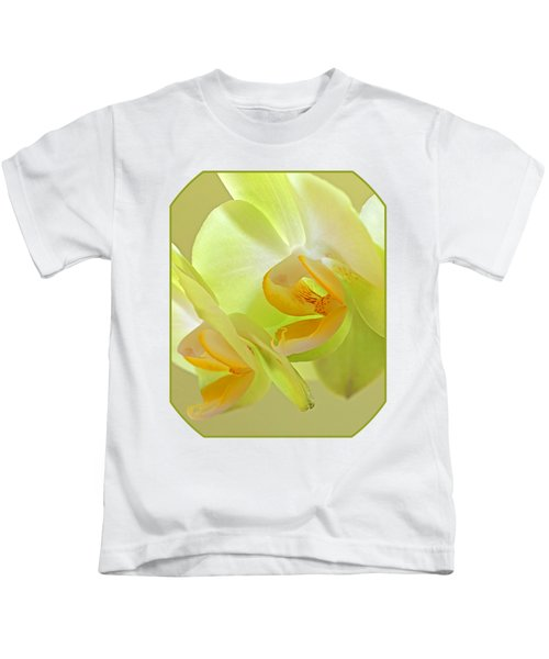 Glowing Orchid - Lemon And Lime Kids T-Shirt by Gill Billington