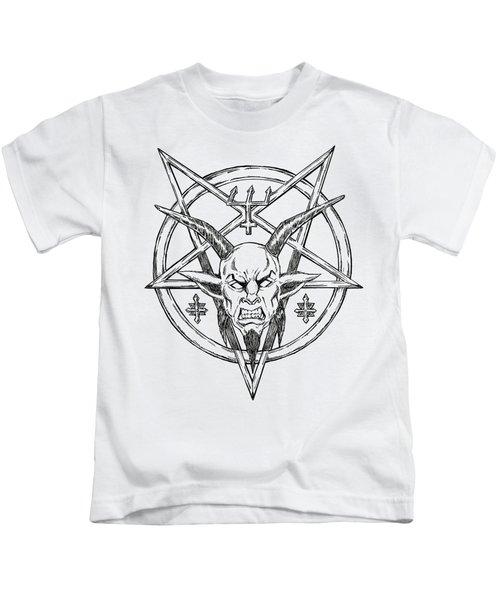 Goatlord Logo Kids T-Shirt by Alaric Barca