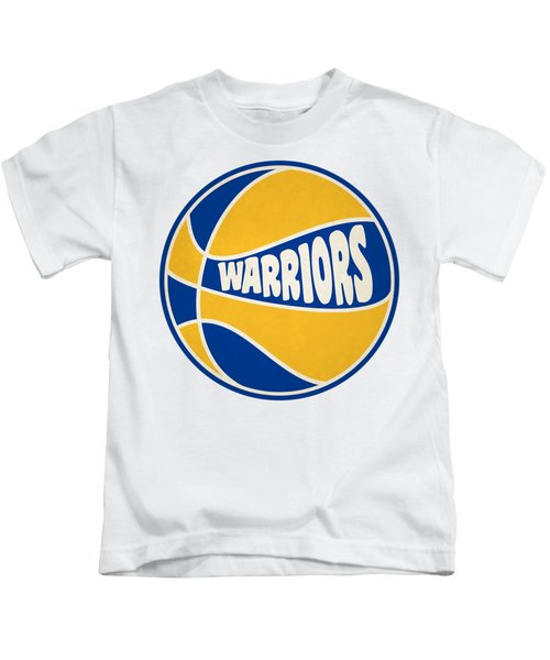 Golden State Warriors Retro Shirt Kids T-Shirt by Joe Hamilton