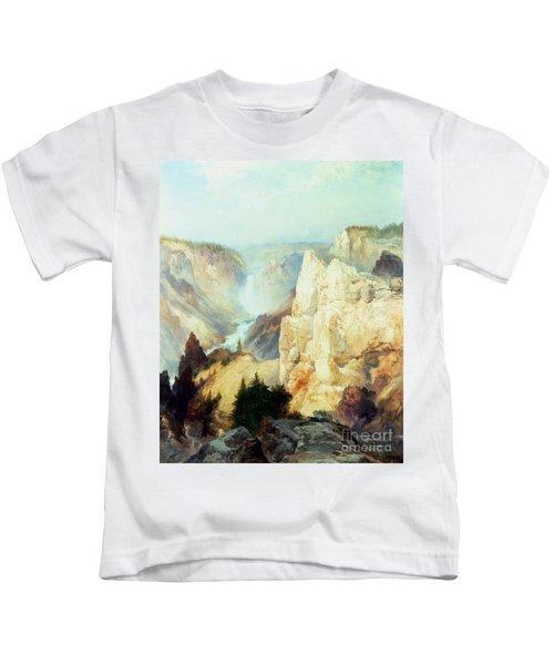 Grand Canyon Of The Yellowstone Park Kids T-Shirt by Thomas Moran