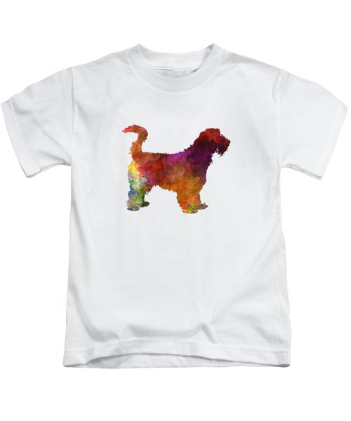 Grand Griffon Vendeen In Watercolor Kids T-Shirt by Pablo Romero