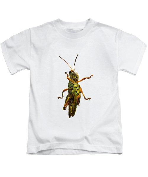 Grasshopper II Kids T-Shirt by Gary Adkins