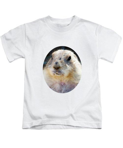 Ground Squirrel Portrait Kids T-Shirt by Laurel Powell