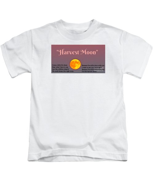 Harvest Moon Song Kids T-Shirt by John Malone