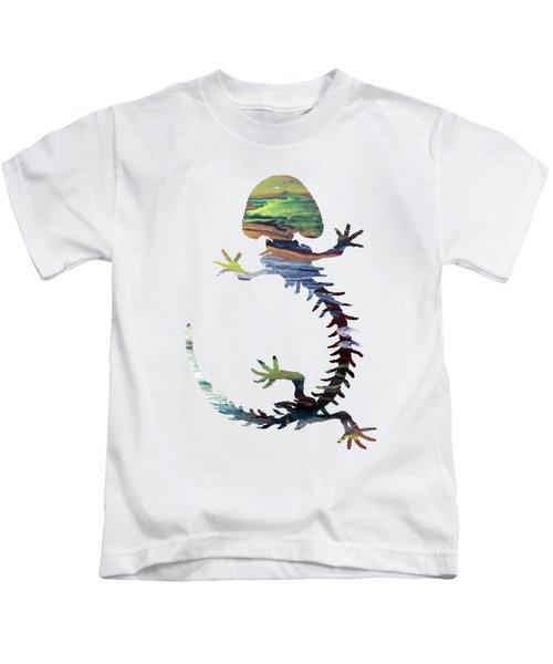 Hellbender Skeleton Kids T-Shirt by Mordax Furittus