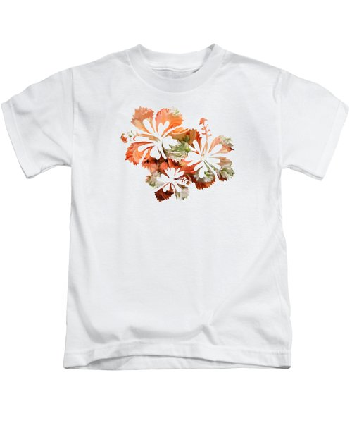 Hibiscus Flowers Kids T-Shirt by Art Spectrum