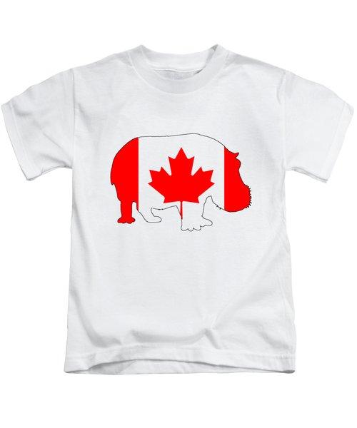 Hippopotamus Canada Kids T-Shirt by Mordax Furittus