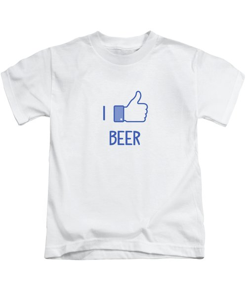 I Like Beer Kids T-Shirt by Citronella Design