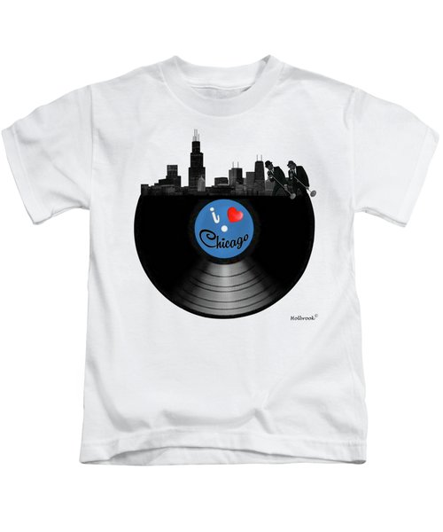 I Love Chicago Kids T-Shirt by Glenn Holbrook