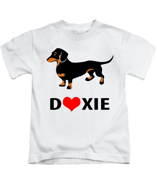 I Love My Doxie Kids T-Shirt by Antique Images