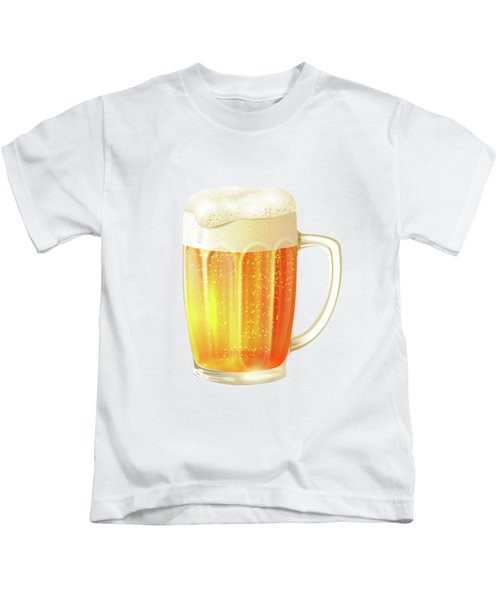 Ice Cold Beer Pattern Kids T-Shirt by Little Bunny Sunshine
