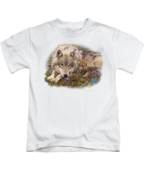 In A Safe Place Kids T-Shirt by Lucie Bilodeau