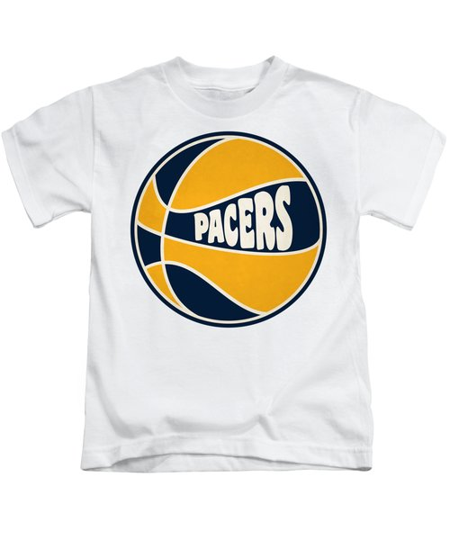 Indiana Pacers Retro Shirt Kids T-Shirt by Joe Hamilton
