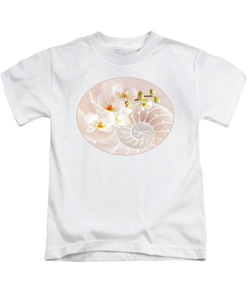 Intimate Fusion In Soft Pink Kids T-Shirt by Gill Billington