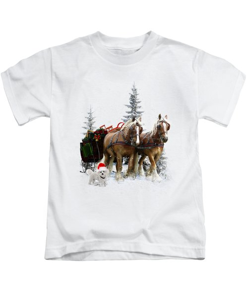 A Christmas Wish Kids T-Shirt by Shanina Conway