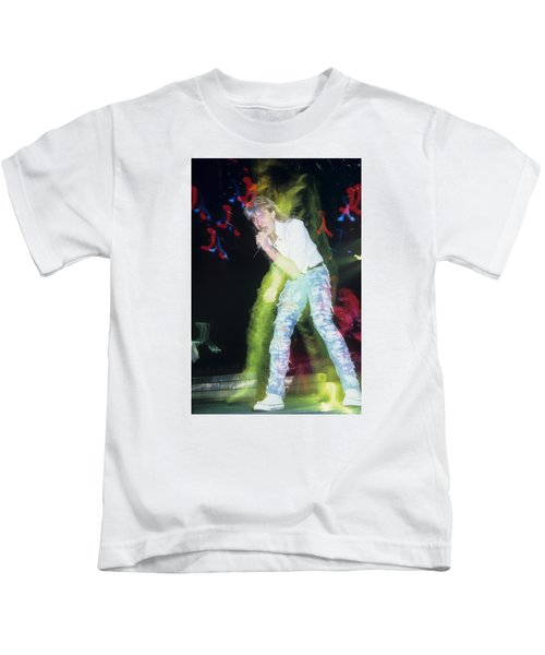Joe Elliott Of Def Leppard Kids T-Shirt by Rich Fuscia