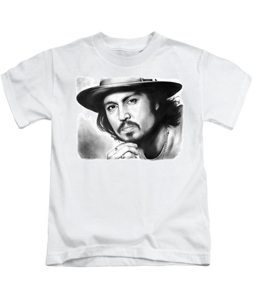Johnny Depp Kids T-Shirt by Greg Joens