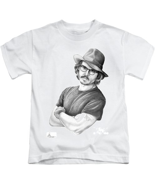 Johnny Depp Kids T-Shirt by Murphy Elliott