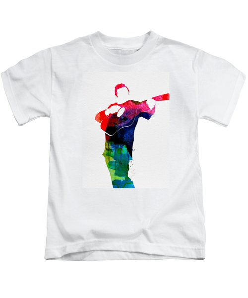 Johnny Watercolor Kids T-Shirt by Naxart Studio