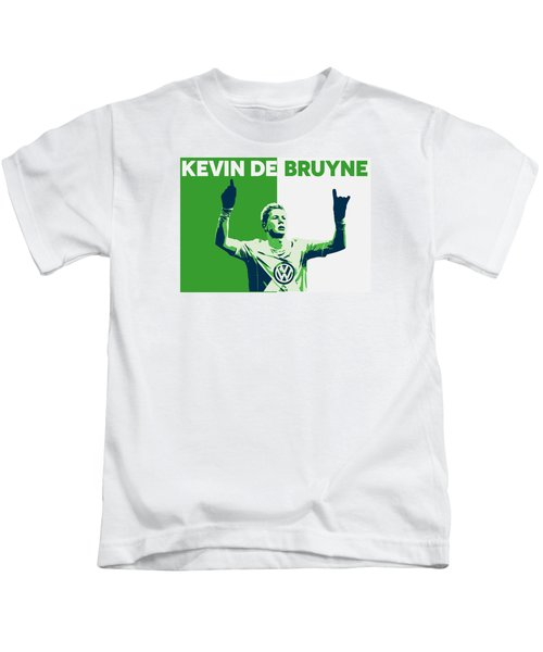 Kevin De Bruyne Kids T-Shirt by Semih Yurdabak