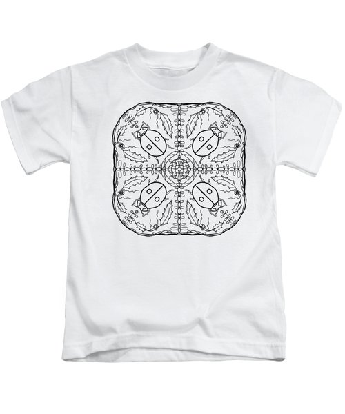 Ladybug Mandala Kids T-Shirt by Tanya Provines