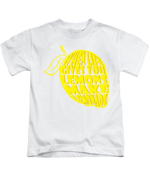 Lemonade Kids T-Shirt by Priscilla Wolfe