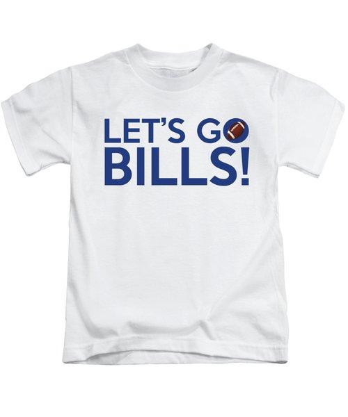 Let's Go Bills Kids T-Shirt by Florian Rodarte