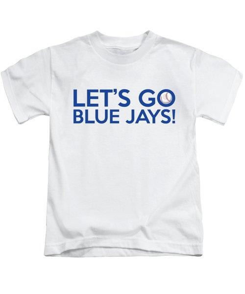 Let's Go Blue Jays Kids T-Shirt by Florian Rodarte