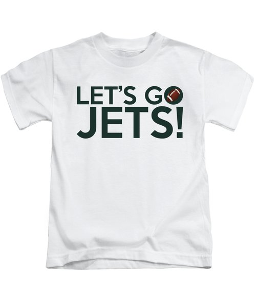 Let's Go Jets Kids T-Shirt by Florian Rodarte