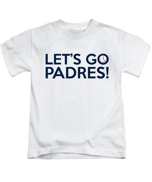 Let's Go Padres Kids T-Shirt by Florian Rodarte