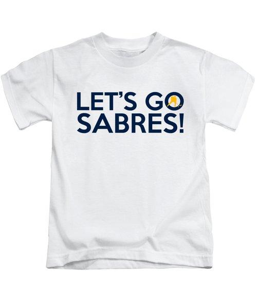 Let's Go Sabres Kids T-Shirt by Florian Rodarte