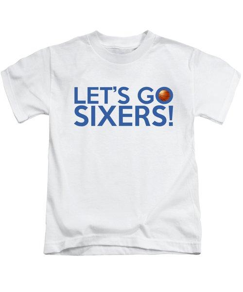 Let's Go Sixers Kids T-Shirt by Florian Rodarte