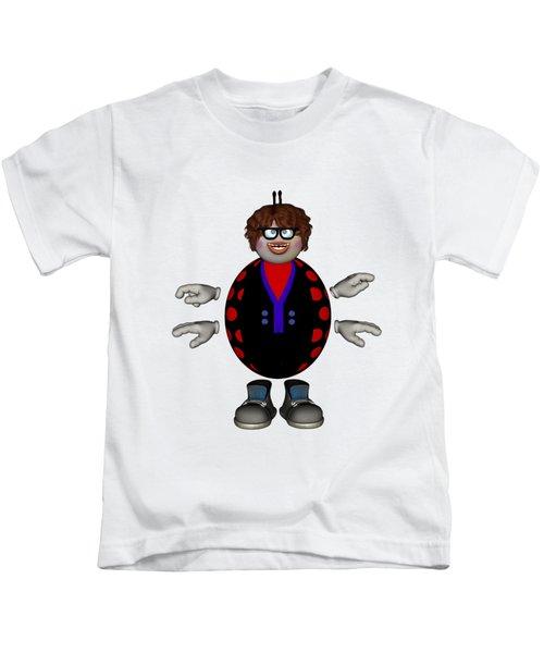 Lily The Ladybug Kids T-Shirt by Steve Kelly