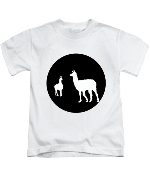 Llamas Kids T-Shirt by Mordax Furittus