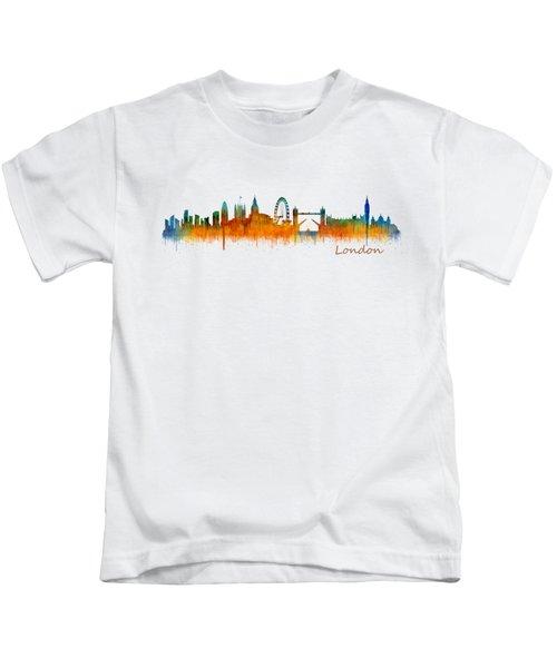 London City Skyline Hq V2 Kids T-Shirt by HQ Photo