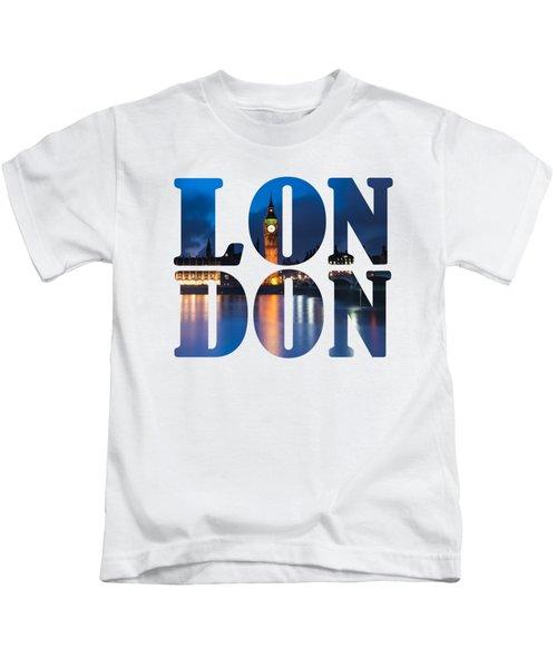 London Letters Kids T-Shirt by Matt Malloy