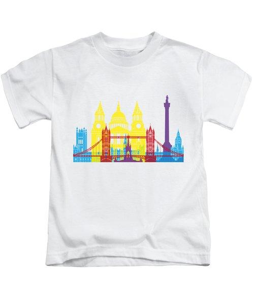 London Skyline Pop Kids T-Shirt by Pablo Romero
